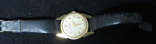 4017: A 14k Gold Case Le Coultre Mans Wristwatch, Stamp