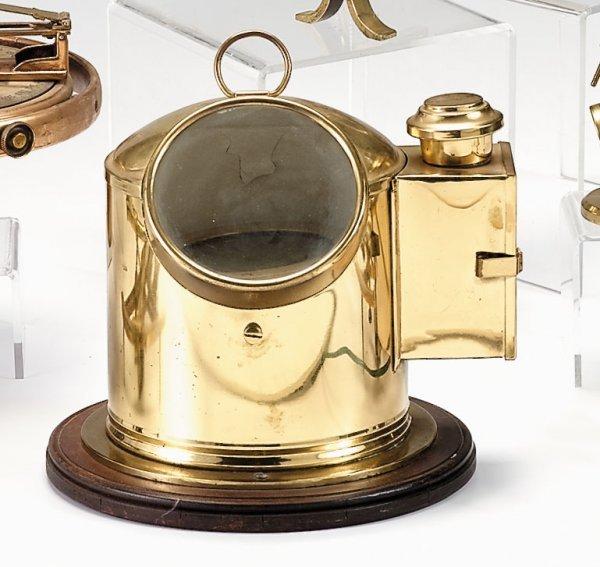 10: Brass hooded compass, robb, moore & kneel, glasgow,