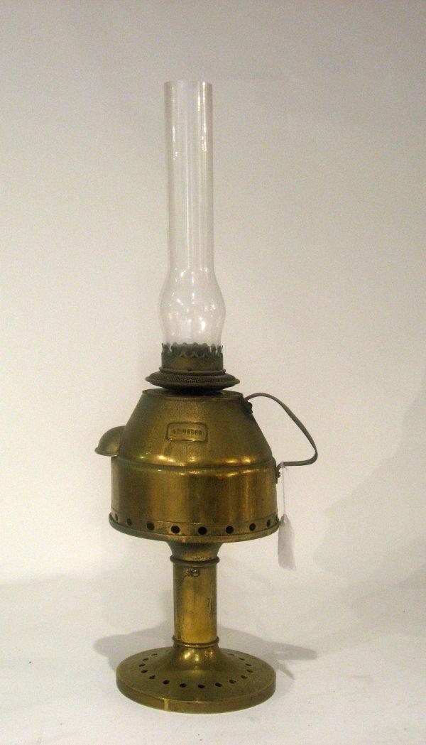 73: Large 19th century brass brass lighthouse lamp, cha