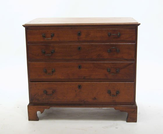 215: Chippendale walnut chest of drawers, pennsylvania,
