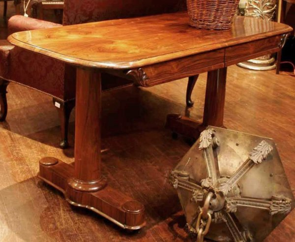 9: A 19th century rosewood sofa table