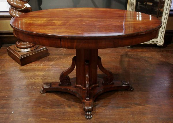 20: A Russian Neoclassical style mahogany centre table