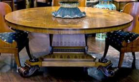 42: An impressive George III style mahogany, rosewood,