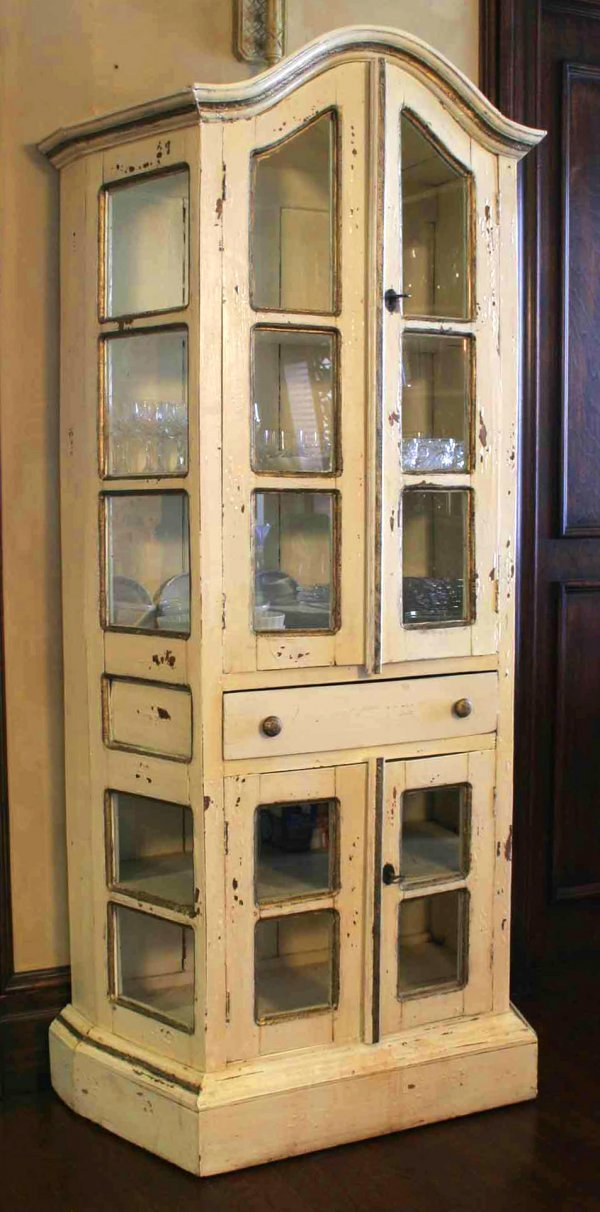 521: A Dutch style painted display cabinet