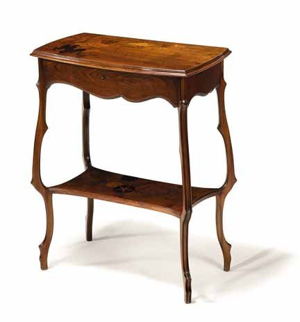 2001: EMILE GALLE, (FRENCH 1846-1904), Fruitwood dressi - 2