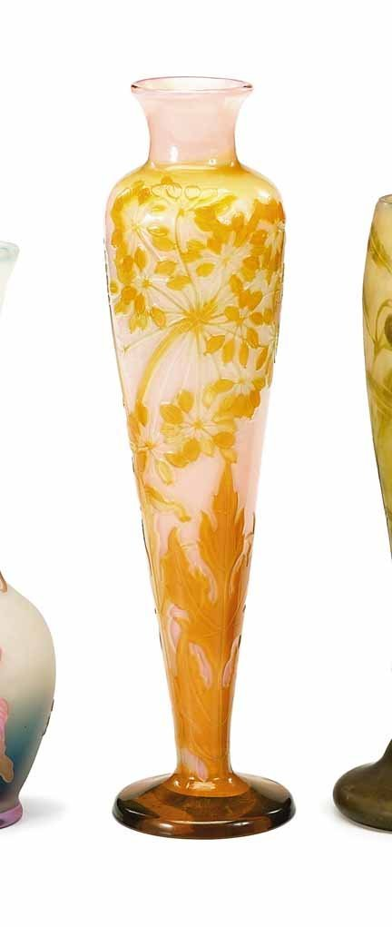 2003: GALLE, (FRENCH), Cameo glass vase