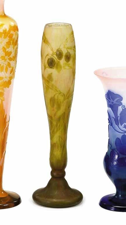 2005: DAUM NANCY, (FRENCH), Cameo glass and applied vas
