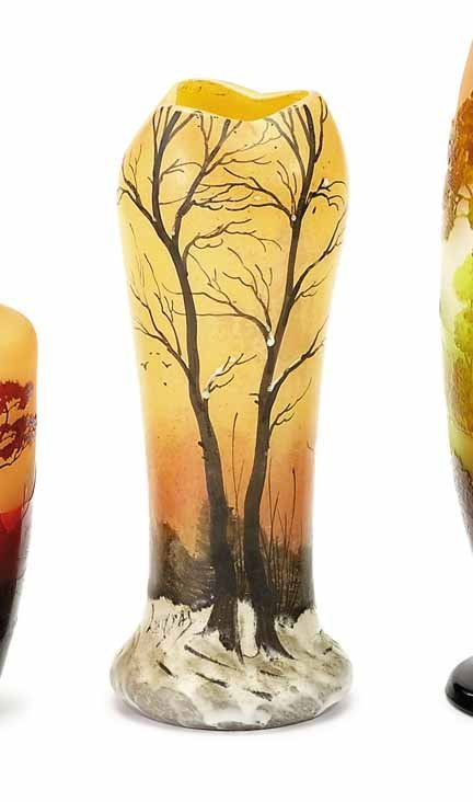 2006: LEGRAS, (FRENCH), Enameled glass vase