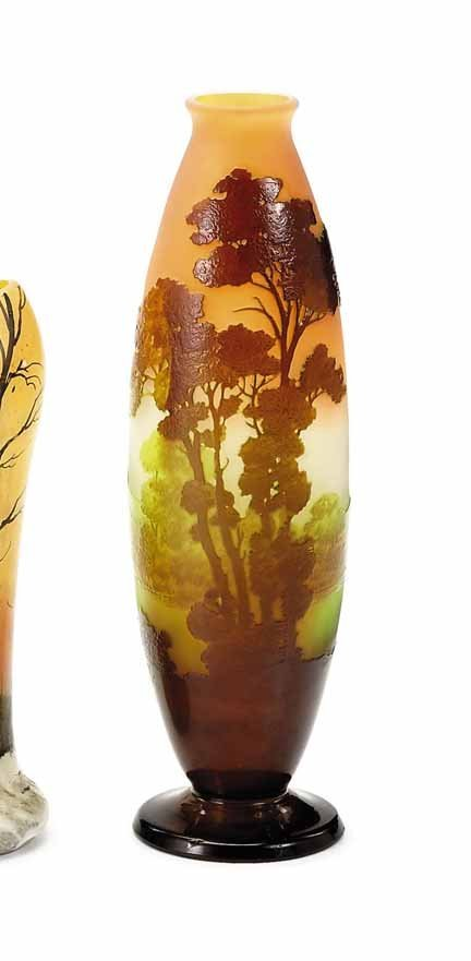 2007: GALLE, (FRENCH), Cameo glass scenic vase