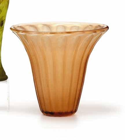 2012: DAUM NANCY, (FRENCH), Acid-etched vase