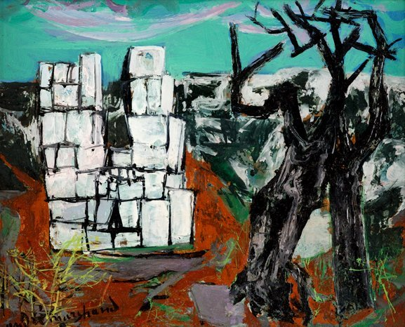 3008: ANDRÉ MARCHAND, (FRENCH 1907-1998), PAYSAGE AU MU
