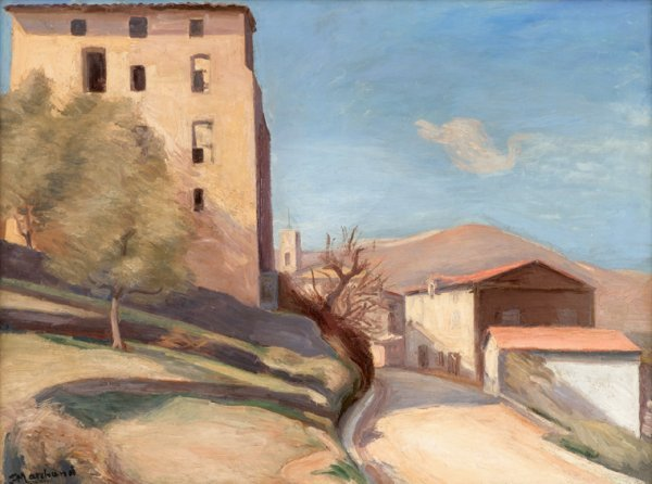 3014: JEAN MARCHAND, (FRENCH 1883-1940), HILLSIDE VILLA