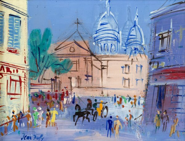 3017: JEAN DUFY, (FRENCH 1888-1964), SCENE DE PARIS