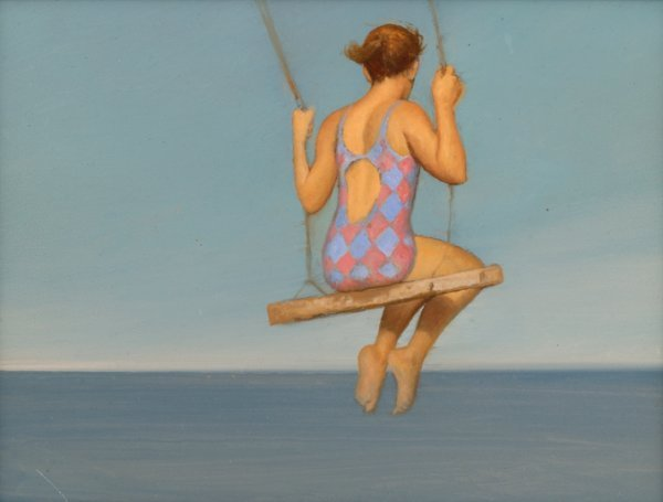 3258: BO BARTLETT, (AMERICAN B. 1955), STUDY FOR SEASID