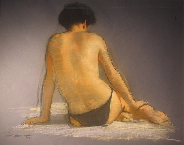 3261: BURTON SILVERMAN, (AMERICAN B. 1928), BEACH FIGUR