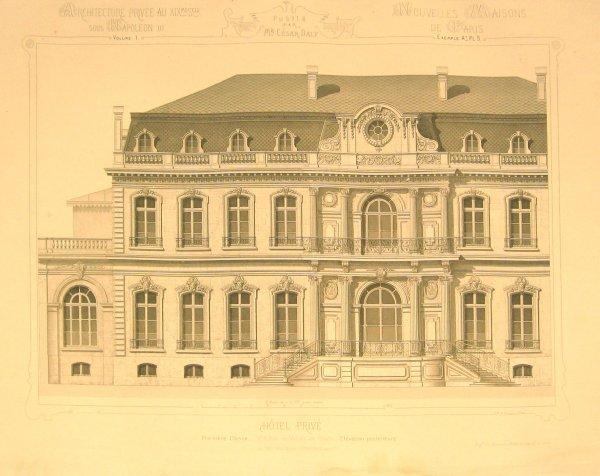 16: 3 vols. Daly, Cesar. L'Architecture Privee aux XIXm