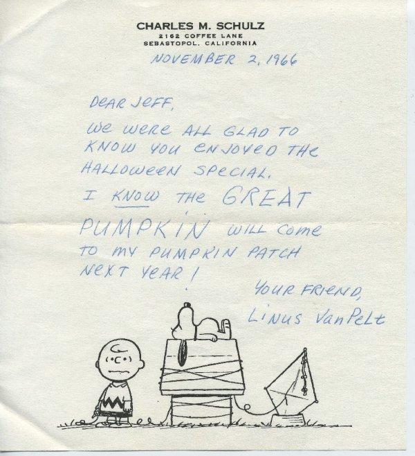 425: 9 pieces. Autograph Material. Schulz, Charles M.: