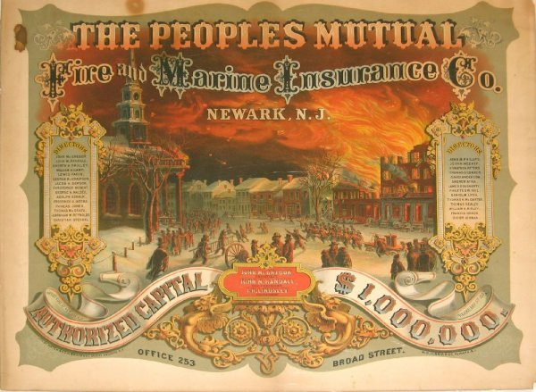 487: 1 piece. Color Lithographic Poster. The Peoples Mu