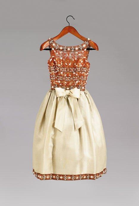 1008: Fine Bob Bugnand party dress, 1960s, Lesage