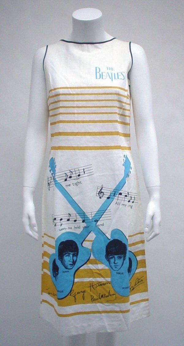 "1012: Novelty cotton The Beatles"" dress, holland, 1960s"