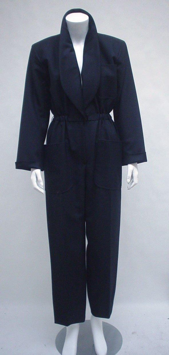 """1014: Yves Saint Laurent black Le Smoking"""" jumpsuit, 19"""