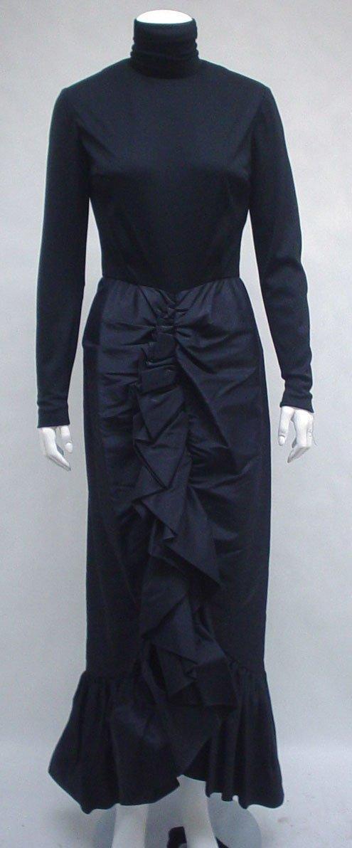 1022: Three Bill Blass black evening gowns, 1970s, Blac
