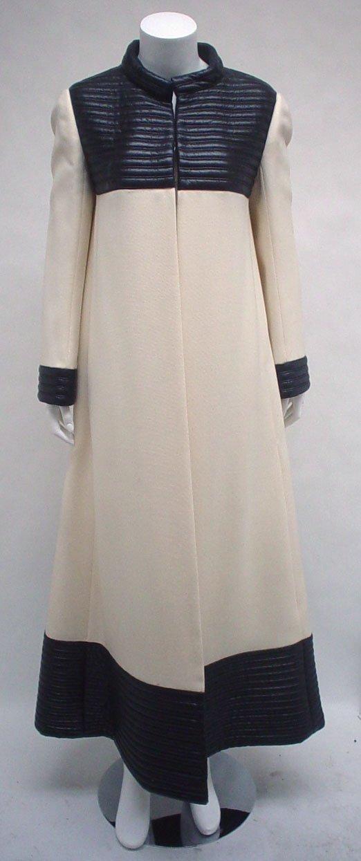 1037: Bernard Perris cream wool space age ensemble, lat