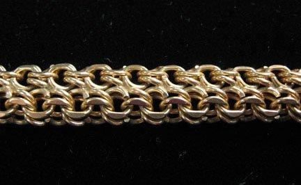 1356: Yellow gold charm bracelet, 1960s, Simple 14 kara