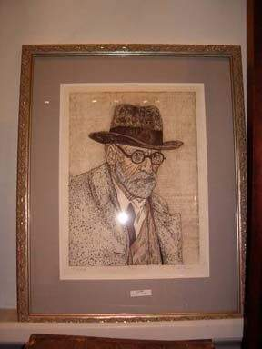 """DAN MILLER 20th Century FREUD"""" pencil signed and"""
