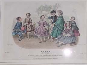 5392B: 5 ENGRAVINGS OF CHILDREN AT PLAY FROM 'LA MODE I