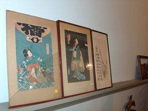 THREE FRAMED JAPANESE WOODBLOCKS 19th / 20th c. D