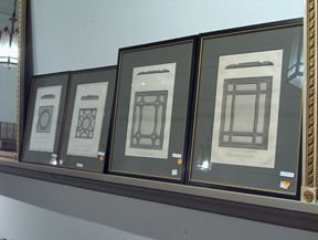 5398: FOUR PIECE FRAMED BOOKPLATES 19th c. Of architect