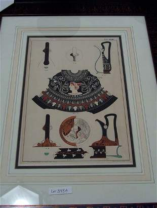 SIX COLOR LITHOGRAPH'S OF URNS & RELATED, BY BRU