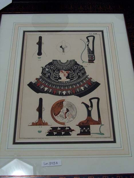 5398A: SIX COLOR LITHOGRAPH'S OF URNS & RELATED, BY BRU
