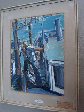 NOLAN BENNER American 'At The Dock' signed and da