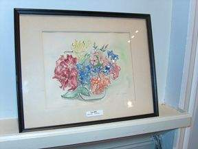 DOROTHY SHAUSER 'Flowers' signed, ink and waterco