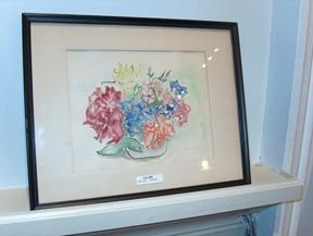 5402: DOROTHY SHAUSER 'Flowers' signed, ink and waterco