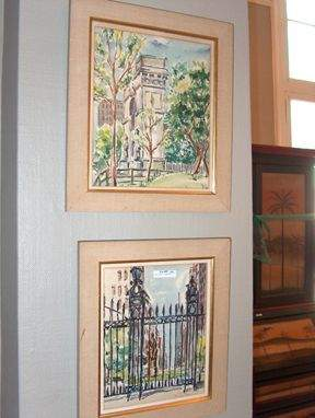 MALCOLM CASE LANDSCAPES Pair of watercolors, one
