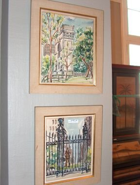 5403: MALCOLM CASE LANDSCAPES Pair of watercolors, one
