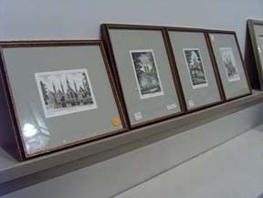5407: FOUR HAND-COLORED LITHOGRAPHS 20th c Of European