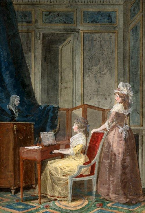 2: JEAN-BAPTISTE MALLET, (FRENCH 1759-1835), LA LECON D