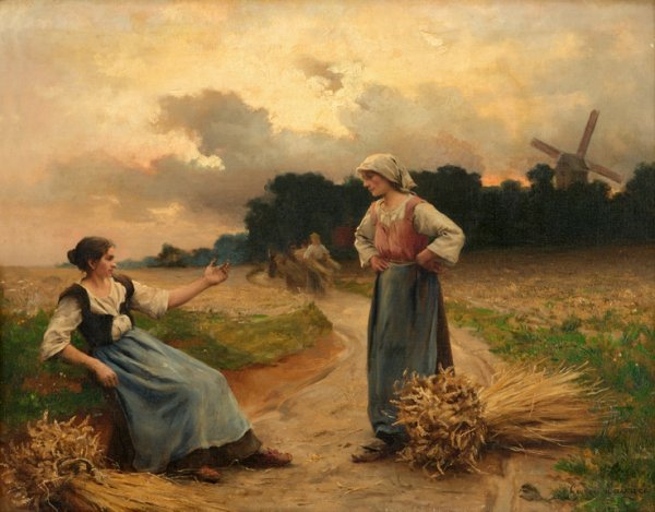 6: GEORGES LAUGEE, (FRENCH B. 1853), THE END OF THE DAY