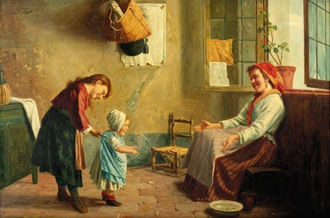 7: LEON EMILE CAILLE, (FRENCH 1836-1907), FIRST STEPS