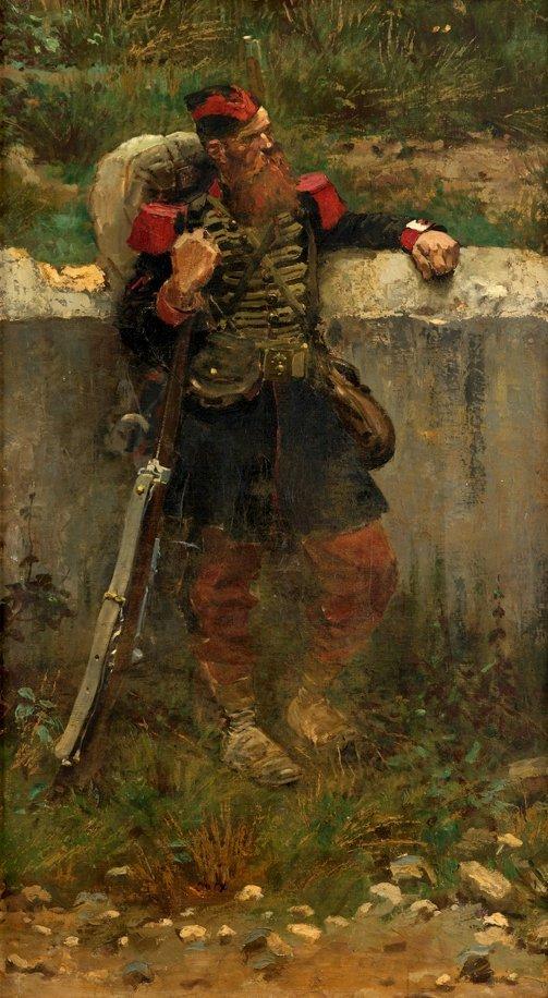 8: JEAN BAPTISTE EDOUARD DETAILLE, (FRENCH 1848-1912),