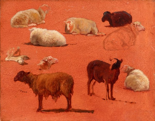 9: ROSA BONHEUR, (FRENCH 1822-1899), UNTITLED (SKETCHES