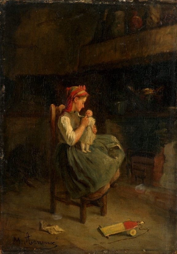 10: MICHAEL ARNOUX, (FRENCH 1833-1877), PLAYING WITH HE