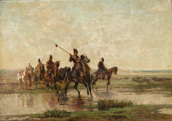 14: ALBERTO PASINI, (ITALIAN 1826-1899), PERSIAN SCOUTS