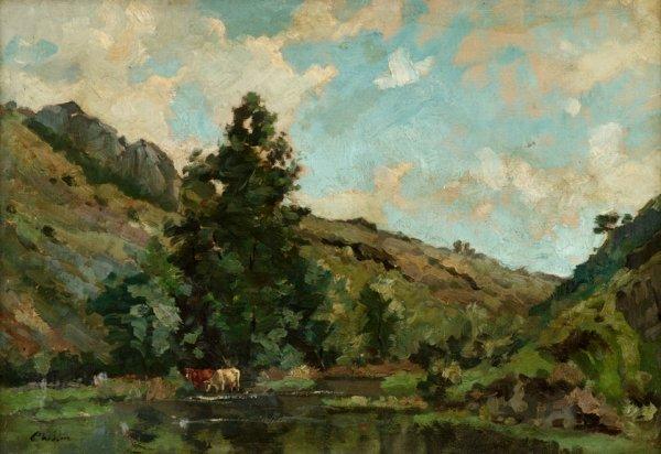 22: PHILIP WILSON STEER, (BRITISH 1860-1942), 'LANDSCAP