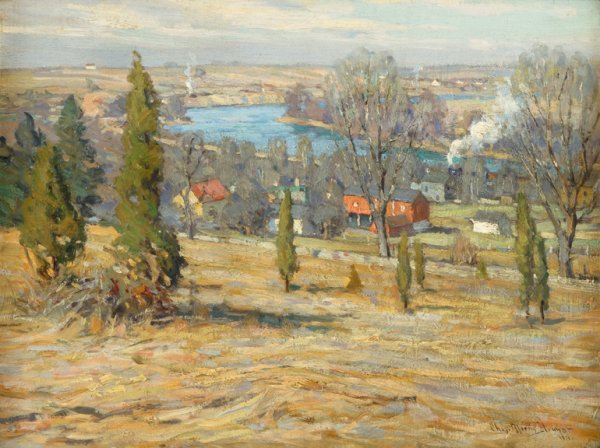 134: CHARLES MORRIS YOUNG, (AMERICAN 1869-1964), VALLEY