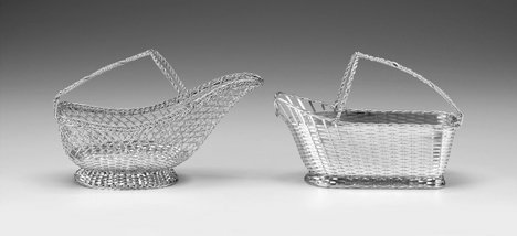 1005: Two French silver wine caddies, mid 20th century,